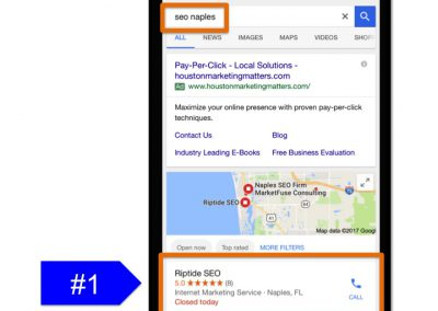 Mobile Ranking for SEO Naples